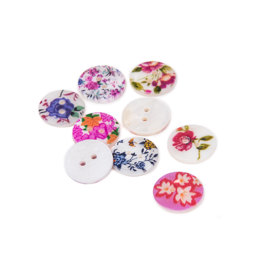 Rico Mother Of Pearl Floral Button Mix 2