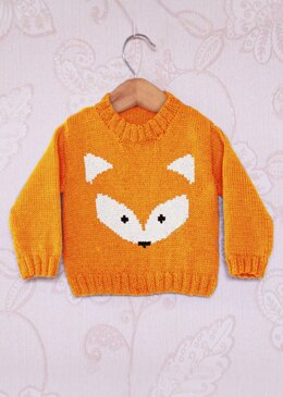 Intarsia - Fox Face Chart - Childrens Sweater