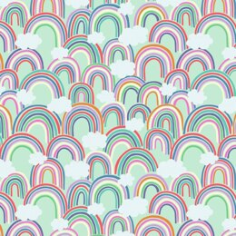 Lewis & Irene Rainbows - All Over Rainbows on Light Green