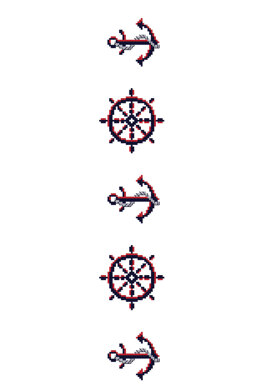 Nautical Anchor in DMC - PAT0109 - Downloadable PDF