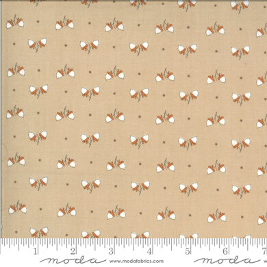 Moda Fabrics Squirrel Girl - Latte Acorn Days