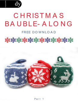 Christmas Bauble in DY Choice 4 Ply with Wool - Downloadable PDF