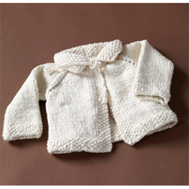 Naturally Nice Baby Sweater in Lion Brand Nature's Choice Organic Cotton- 60806A