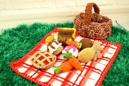 Picnic food set amigurumi