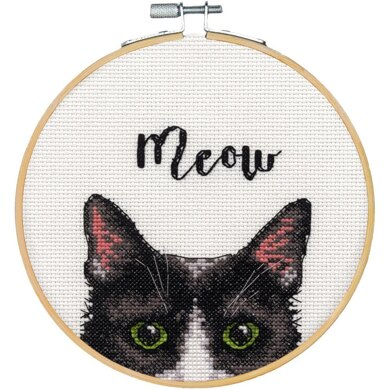DimensionsMeow Counted Cross Stitch Kit with 6in Hoop