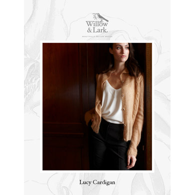 Lucy Cardigan : Cardigan Knitting Pattern for Women in Willow & Lark Lace | 2 Ply Yarn