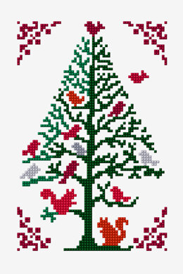 Christmas Tree - Forest Animals in DMC - PAT0878 - Downloadable PDF