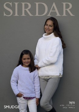 High Neck Jumpers in Sirdar Smudge - 7870- Downloadable PDF