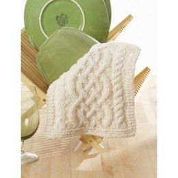 Celtic Cables Dishcloth in Lily Sugar 'n Cream Solids