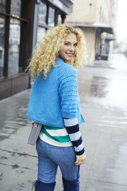 Top Down Cropped Cardigan in Lion Brand Touch of Merino - L80109 - Downloadable PDF