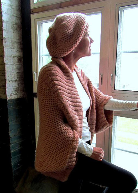 Women S Shrug And Hat In Plymouth Baby Alpaca Aire F477