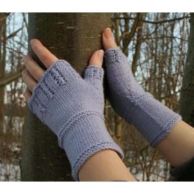 Lace Lavender Mitts