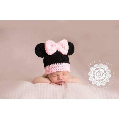 Minnie Mouse Inspired Beanie