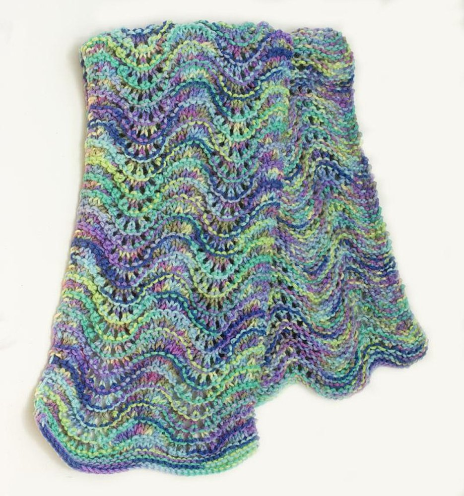 Multi Color Chevron Scarf Knitting Pattern By Judith Stalus