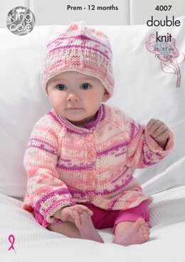 Blanket, Jacket, Cardigan and Hat in King Cole DK - 4007