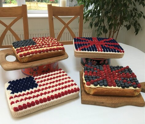 Berry Traybakes (UK & US Flags)
