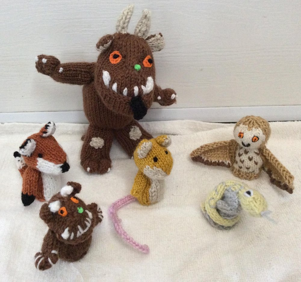 Gruffalo And Friends Finger Puppets Knitting Pattern By Hennie