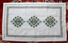 Avlea Folk Embroidery Anatolian Argyle Table Runner - Downloadable PDF