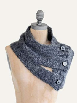 Tri Button Cowl in Blue Sky Fibers - T17 - Downloadable PDF