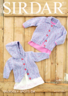 Cardigans in Sirdar Snuggly Spots DK - 4812 - Downloadable PDF