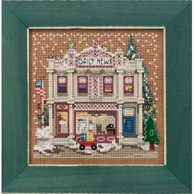 Mill Hill Winter BB - Daily News Christmas Village - 5.25inx5.25in