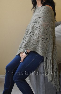 #201 Off-Kilter Lace Poncho
