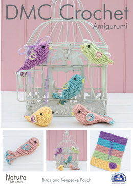 Birds and Keepsake Pouch in DMC Natura Just Cotton - 15269L/2
