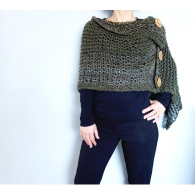 3 Button Loose Knit Poncho Knitting Pattern By Camexiadesigns