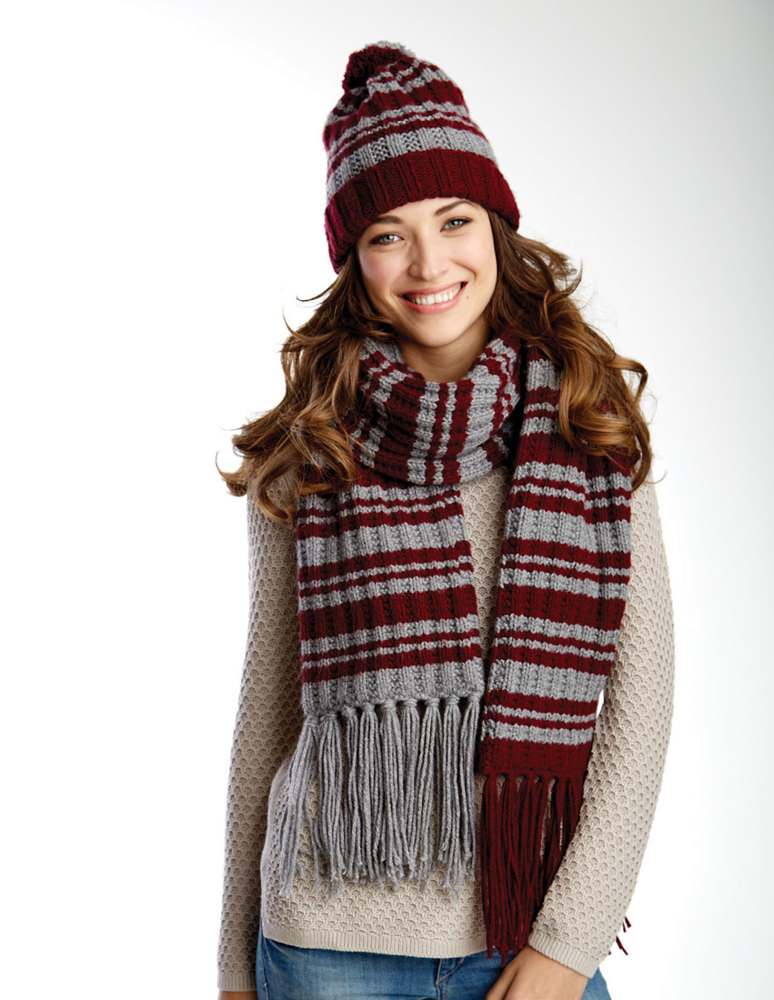 Varsity Stripes Scarf Amp Hat Set In Caron United