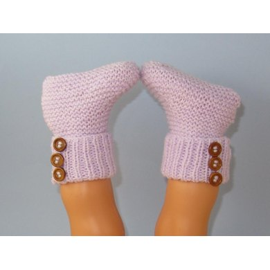 Easy Baby 3 Button Rib Top Booties