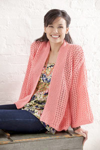 Bright and Breezy Kimono in Caron Simply Soft Collection - Downloadable PDF