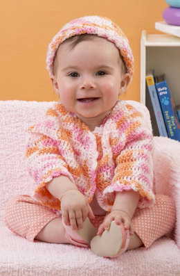 Twin Sweater Set in Red Heart Baby TLC Multis - LW3138 - Downloadable PDF