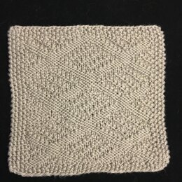 Dotted Diamonds Washcloth