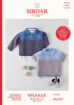 Babies Sweaters in Sirdar Snuggly Baby Bamboo DK - 5358 - Leaflet