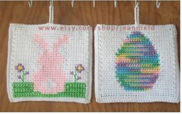 Easter Egg & Bunny Pot Holder