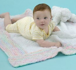 Spun Sugar Baby Blanket  in Red Heart Baby Clouds Solids and Baby Clouds Multis - LW2719