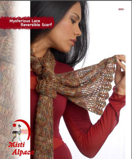Reversible Scarf in Misti Alpaca Hand Paint Lace - 2001