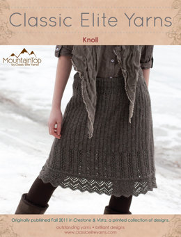 Knoll Skirt in Classic Elite Yarns MountainTop Vista - Downloadable PDF