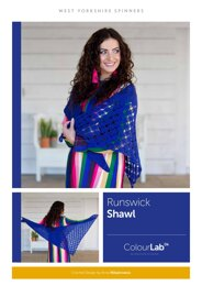 Runswick  Shawl  in West Yorkshire Spinners ColourLab- Downloadable PDF