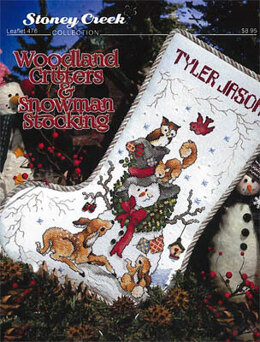 Stoney Creek Woodland Critters & Snowman Stocking - SCL476 -  Leaflet