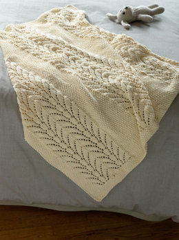 Classic Lace Baby Throw in Lion Brand Cotton-Ease - 90340AD