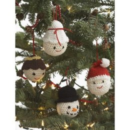 Amigurumi Ornaments in Lily Sugar 'n Cream Solids