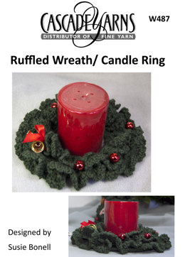 Ruffled Wreath/ Candle Ring in Cascade 220 - W487