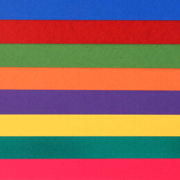 "LoveCrafts Rainbow Collection Classic Cardstock 80lb 12"" x 12"" 16 Pack"