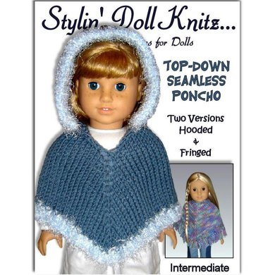 Easy Poncho Knitting Pattern Fits American Girl And 18 Inch Dolls