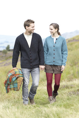 Ladies & Mens Cardigans in Hayfield Bonus Aran Tweed - 7052