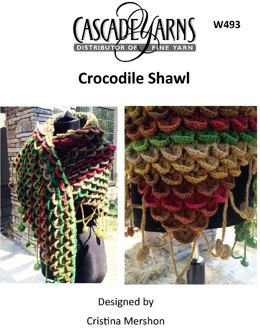 Crocodile Shawl in Cascade Casablanca - W493