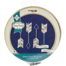 Needle Creations Easy Peasy Embroidery Kit - Arrows Stamped on Denim