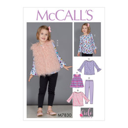 McCall's Children's/Girls' Tunic Tops, Vest and Leggings M7830 - Sewing Pattern
