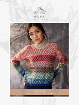 Ginnie Jumper in Willow and Lark Nest - Downloadable PDF